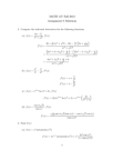 Mathematics 0110A/B Study Guide - Quiz Guide: Quotient Rule