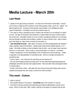 PSY427H1 Lecture Notes - Rela, Hyperreality, Canadian Content