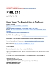 PHIL215 Lecture Notes - Making Money, Bethany Mclean, Sherron Watkins