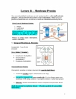 Biology 2382B Lecture Notes - Action Potential, Lipophilicity, Ion Channel
