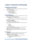 ANTHROP 1AB3 Chapter Notes - Chapter 1: Blood Type, Linguistic Anthropology, Sociolinguistics