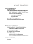 HPS319H1 Lecture Notes - Lecture 8: Hospital Medicine, Theodor Schwann, Medical Laboratory