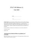 STAT 100 Study Guide - Midterm Guide: Quartile, Scatter Plot, Standard Deviation