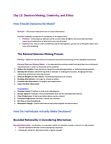 BUS 272 Chapter Notes - Chapter 12: Decision-Making, Bounded Rationality, Confirmation Bias