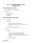 RSM225H1 Lecture Notes - Limited Partnership, Sole Proprietorship, Professional Corporation