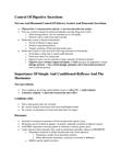 BIOL 110 Lecture Notes - Gastrin, Medulla Oblongata, Chyme