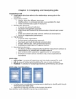 BU354 Chapter Notes - Chapter 3: Job Satisfaction, Job Analysis, Industrial Engineering