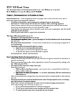 ENV 319 Chapter Notes - Chapter 2: Welfare, Environmental Impact Assessment