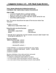 CS115 Study Guide - Final Guide: Substring, Data Definition Language, Association List