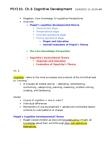 PSY210H1 Study Guide - Imaginary Audience, Egocentrism, Problem Solving