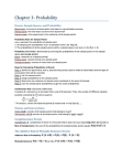 STAT 2060 Chapter Notes - Chapter 3: Conditional Probability, Bayes Estimator, Sample Space