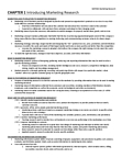 MKT 500 Chapter Notes - Chapter 1: Marketing Intelligence, Market Segmentation, Competitive Intelligence