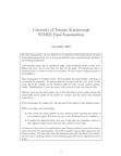 STAB22H3 Study Guide - Simple Random Sample, Standard Deviation, Sampling Distribution