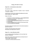 BIOLOGY 1P03 Study Guide - Lipid Bilayer, Cell Membrane, Nuclear Membrane