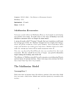 ECON 3R03 Lecture Notes - Cytochrome C Oxidase Subunit I