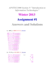 ITEC 1000 Study Guide - Quiz Guide: Binary Number