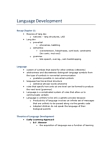 PSY 2105 Lecture Notes - Linguistic Relativity, Williams Syndrome, Dan Slobin