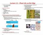 BIOA01H3 Lecture Notes - Lecture 12: Vallisneria, Herbivore, Plant Reproductive Morphology