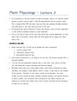 BIOC40H3 Lecture Notes - Lecture 3: Middle Lamella, Dicotyledon, Lignin