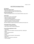 SOC 2700 Lecture Notes - Consistency, Homicide, Solitary Confinement