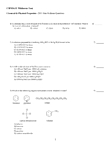 2.Chemical & Physical Properties - 2011 Past Midterm