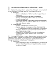 GGR271H1 Lecture Notes - Social Science, Institute For Operations Research And The Management Sciences, Nomothetic