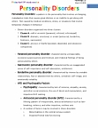 PSY 120 Lecture Notes - Paranoid Personality Disorder, Dissociative Identity Disorder, Borderline Personality Disorder