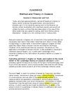 CLA260H1 Lecture Notes - Bibliotheca Teubneriana, Papyrology, Literary Theory