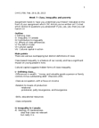CHYS 1F90 Lecture Notes - Meritocracy, Infant Mortality, Concerted Cultivation
