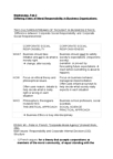 ETHC 3P82 Lecture Notes - Adapt, Gulf Oil, Corporate Social Responsibility