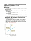 EC140 Lecture Notes - Aggregate Supply, Aggregate Demand, Monetary Policy