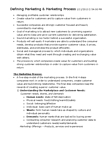ADMS 2200 Lecture Notes - Voice Of The Customer, Marketing Myopia, Value Proposition