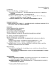 PSYCH261 Lecture Notes - Hebbian Theory, Operant Conditioning, Echoic Memory