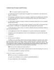 LWSO 203 Lecture Notes - Criminal Negligence, Summary Offence, Labia Minora