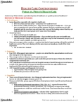 SOSC 1801 Lecture Notes - Ontario Health Insurance Plan, Intersex, Universal Health Care