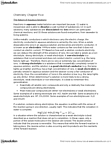 CHM110H5 Chapter Notes - Chapter 5: Sodium Chloride, Sulfuric Acid, Silver Iodide