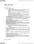 PSYC 357 Lecture Notes - Advance Healthcare Directive, Terror Management Theory, Do Not Resuscitate