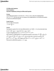 MAT136H1 Lecture Notes - Product Rule, Linear Differential Equation, Integrating Factor