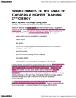 PRT100Y1 Study Guide - Olympic Weightlifting, Exercise Intensity, Kinetic Energy