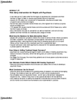 PSYC 3690 Chapter Notes -Prodrome