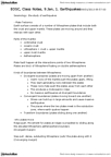 EOSC 114 Study Guide - Seismic Wave, Subduction, Elastic-Rebound Theory