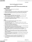 HLTHAGE 4Z06 Lecture Notes - Rush Hour, Circulatory System, Hypercapnia