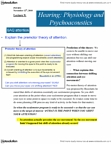 PSYB51H3 Lecture Notes - Lecture 9: Tectorial Membrane, Basilar Membrane, Ear Canal