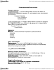 46-333 Chapter Notes -Object Permanence, Konrad Lorenz