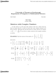 MATB24H3 Lecture Notes - Orthogonal Matrix, Orthogonal Complement, Hermitian Matrix