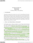 ECON 304 Lecture Notes - Federal Reserve Act, Federal Open Market Committee, Federal Funds Rate