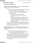 Management and Organizational Studies 2276A/B Study Guide - Nova Scotia Supreme Court, Legal Personality, Oppression Remedy