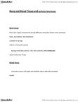 BIOL 1215 Lecture Notes - Loose Connective Tissue, Bone, Mucous Membrane