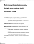 CMNS 1115 Lecture Notes - Trait Theory, Agreeableness, Interpersonal Deception Theory