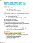 HIS242H1 Lecture Notes - Munich Agreement, Anschluss, Hershel Greene